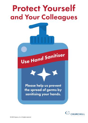 COVID-19 hand sanitiser poster for work