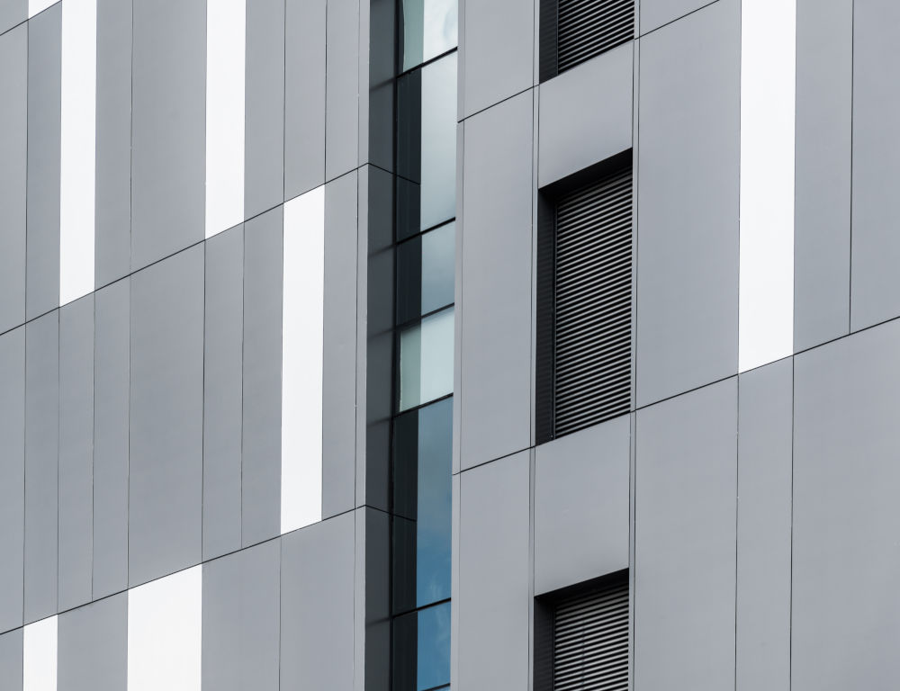 cladding on building